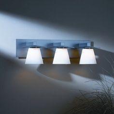 Hubbardton Forge Wren 3 Light Vanity Light Finish: Dark Smoke, Shade Color: Opal, Bulb Type: (3) 60W G-9 halogen bulbs