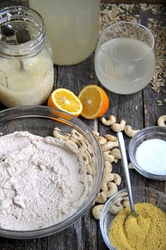 Cashew cheese (chèvre style) made with culture from rejuvelac (probiotic drink from sprouted grains)