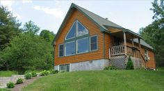 Wellsboro Vacation Rental - VRBO 267522 - 3 BR Grand Canyon of Pennsylvania Chalet in PA, Beautiful Log Home on 76 Private Acres!
