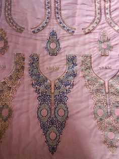 Designer Multicolor Embroidery Neckline