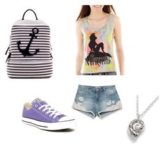 """Ariel Meets Summer Camp"" by gracethefangirl ❤ liked on Polyvore"