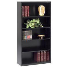 Tennsco Welded Bookcase - x x - 5 x Shelf(ves) - 600 lb Load Capacity - Black - Steel - Recycled Item # 948722 Wide Bookcase, Etagere Bookcase, Bookcase Shelves, Traditional Bookcases, Cube Unit, Rack Shelf, Decorative Storage, Cube Storage, Brown And Grey