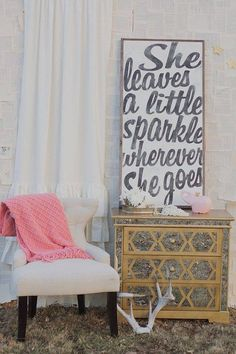 Nursery quote for baby girl