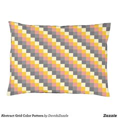 Abstract Grid Color Pattern Dog Bed  Available on more products! Just click the 'Available On' link on this product's page! Thanks for looking!  @zazzle #art #abstract #grid #pattern #orange #grey #gray #yellow #square #modern #fashion #style #dog #bed #pet #supplies #collar #leash #tags #fun #sweet #neat #chic #modern #grid #pattern #shop #buy #sale