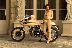 Keira Knightley and Ducati 750 sport for Chanel's Coco Mademoiselle perfume ad.