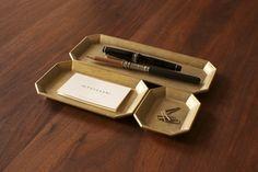 Futagami Brass Desk Tray S Desk Tray, Desk Set, Desktop Accessories, Home Accessories, Architecture Restaurant, E Design, Filofax, Brass, Copper