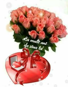 DE ZIUA DE NAȘTERE Birthday Wishes, Happy Birthday, Happy New Year Pictures, Special Flowers, Beautiful Roses, Table Decorations, Ornaments, Happy Love, Bunch Of Flowers