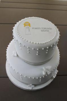 tortas de comunion de 2 pisos