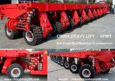 http://www.chinaheavylift.com/self-propelled-modular-transporters-spmt/  CHINAHEAVYLIFT Self Propelled Modular Transporters (SPMT), through Individual or combination modes, Provide the reliable transport solution for oversize, non-detachable, overlength or overweight super structure cargoes worldwide  Email : yoko@chinaheavylift.com Tel : +86 137 7422 2241 (Wechat, WhatsApp)