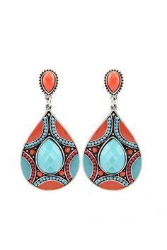 Filigree Floral Dangle Earrings - Drop Earrings, Chandelier ...