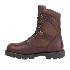 Georgia Homeland Mens Brown Leather Steel Toe Insulated Work Boots