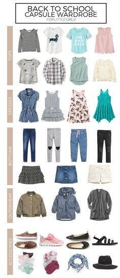 Save this if you are thinking of creating a back to school capsule wardrobe for your little girl or boy.
