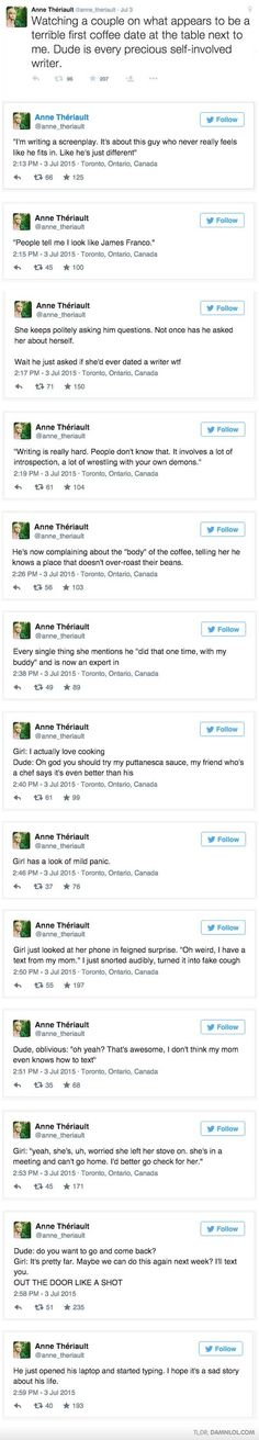 Girl Live Tweets The World's Worst First Date