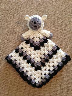 Crochet Sleepy Lamb Lovey aka Blanket Buddy by ToqueFairies, $4.00