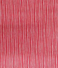 Tela Patchwork con Rayas Blancas y fondo Rojo. Ancho 150 cm. Algodón 100%