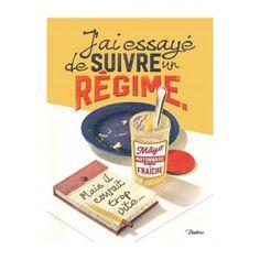 Plaque métal A5 « Suivre un régime » - Natives - Déco rétro & vintage