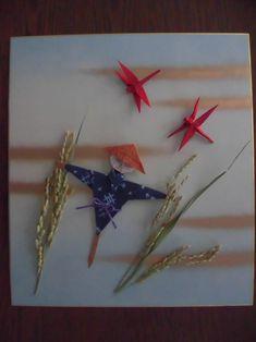 画像 豊作を祈っての記事より Washi, Autumn Scenery, Hanukkah, Origami, Wreaths, Frame, Home Decor, Paper, Picture Frame