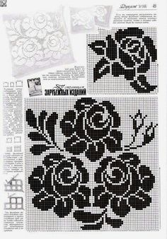 Use imgbox to upload, host and share all your images. Tapestry Crochet, Crochet Motif, Crochet Designs, Crochet Doilies, Crochet Flowers, Crochet Stitches, Filet Crochet Charts, Knitting Charts, Knitting Patterns