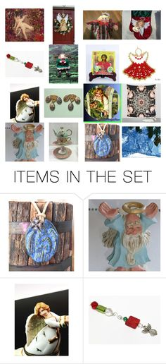 Angels on Etsy by kateduvall on Polyvore featuring art and vintage
