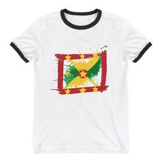 Childrens Jamaica Flag Pride Cotton Short Sleeve Tee Tops Size 2-6
