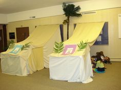 Group tents for Egypt VBS