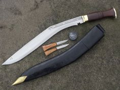 "Genuine Gurkha Kukri Knife - 20"" Blade Full Tang GK&CO. Special Long Semi-polished Knife - Handmade by GK&CO. Kukri House in Nepal."