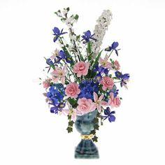 Martha Mclean Miniatures - international artisan dollhouse miniatures and handcrafted dollhouse flower arrangements $325