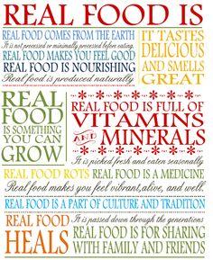 Whole vs Processed Food - Eat Real Food Summary