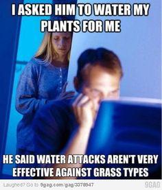 Pokemon Water attacks aren't very effective against grass types