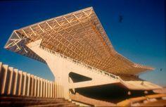 Mane Garrincha Stadium in Brasilia, Single stand, before 2014 refurbishment.