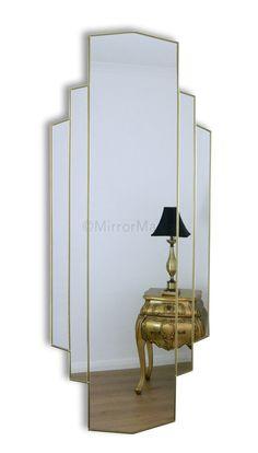 Art Deco Wall Mirror the manhattan art deco wall mirror | my dressing room | pinterest