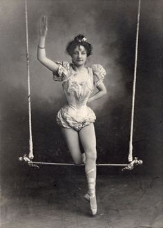 Browse Vintage+Photograph+Circus+Black+and+White+Trapeze+Artist+Woman+Victorian pictures, photos, images, GIFs, and videos on Photobucket Old Circus, Night Circus, Scary Circus, Haunted Circus, Vintage Photographs, Vintage Images, Vintage Posters, Vintage Circus Photos, Ana Pavlova