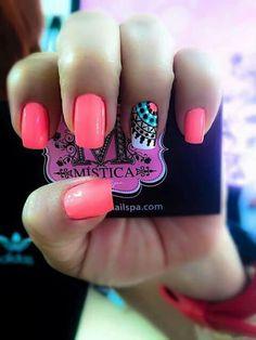 """ with ・・・ Cuando me preguntan por mis… Gorgeous Nails, Love Nails, Fun Nails, Pretty Nails, Pretty Nail Designs, Nail Art Designs, Nails For Kids, Bright Nails, Manicure E Pedicure"