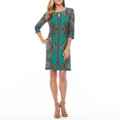 054b13bfd96 Buy Studio 1 3 4 Sleeve Paisley Shift Dress at JCPenney.com today and enjoy  great savings.