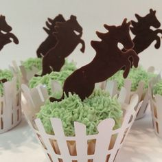 Horse silhouette cupcakes by Jillee's Goodees
