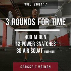 #fitness #sport #Wod #crossfitvoiron #crossfit #voiron #run #powersnatch #airsquats #dusportmaispasque