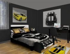 Camaro Passion Bedroom Theme featured at http://www.visionbedding.com/Camaro-Passion_Bedroom-rm-11180
