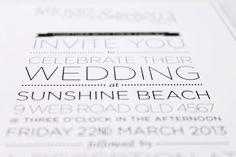 Eye Heart Stationery   Contemporary Wedding Paper #invites