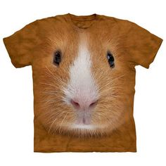 Ever feel like your life is one big experiment??  Guinea Pig Face Tee Adult XXL now featured on Fab.