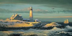 William Phillips - The Lightkeeper's Gift (http://www.hiddenridgegallery.com/store/william-phillips/the-lightkeepers-gift.html) #art #williamphillips