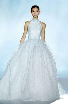 Blue wedding dress from Rosa Clara, Spring 2013 Rosa Clara Wedding Dresses, Rosa Clara Bridal, Colored Wedding Dresses, Wedding Colors, Wedding Dress Cake, Gorgeous Wedding Dress, Dream Wedding, Spring Wedding, Gaudi