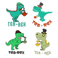Tea-Rex Dinosaur Dino Cuttable Design Cut File. Vector, Clipart, Digital Scrapbooking Download, Available in JPEG, PDF, EPS, DXF and SVG. Works with Cricut, Design Space, Cuts A Lot, Make the Cut!, Inkscape, CorelDraw, Adobe Illustrator, Silhouette Cameo, Brother ScanNCut and other software.