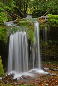 Discovered this great little waterfall on a trip up the North Fork of the Coeur d' Alene River.