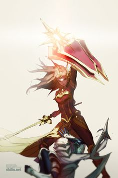 WIP - The Shield is the Mightiest by shilin.deviantart.com on @deviantART leona vs diana