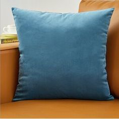 Pillow Cover Velvet Cushion Cover For Living Room Sofa - Luxury Cushions, Blue Cushions, Pink Pillows, Velvet Cushions, Blue Cushion Covers, Leather Throw Pillows, Throw Pillow Sets, Living Room Sofa, Betta