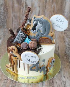 New cake desing birthday men dads ideas New Birthday Cake, Birthday Cakes For Men, Cakes For Boys, Birthday Ideas, Happy Birthday, Birthday Parties, Rodjendanske Torte, Cake Drawing, Chocolate Raspberry Cheesecake