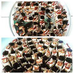 Happy 70th Birthday. Bite size pieces galore! Layer Cheesecake, 70th Birthday, Bite Size, Pasta Salad, Baking, Board, Ethnic Recipes, Happy, Crab Pasta Salad