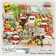 Sunny Santa Elements Bella Gypsy Designs and Kristin Aagard Designs (I have papers too) at SO Printable Scrapbook Paper, Scrapbook Pages, Scrapbook Kit, Free Digital Scrapbooking, Digital Papers, Scrapbooking Ideas, Vintage Scrapbook, Scrapbook Embellishments, Paper Flowers