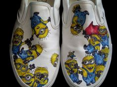 I am on the hunt now for cheap white canvas shoes to do this!