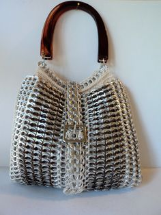 Pull Tab Tote ♥ by PopTopLady on Etsy Crazy cool!